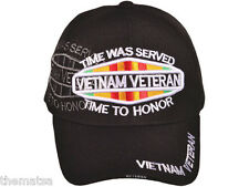 VIET NAM WAR VETERAN TIME WAS SERVED TIME HONOR WITH RIBBONS EMBROIDERED HAT CAP