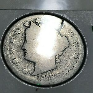 1886  LIBERTY NICKEL RARE DATE COIN