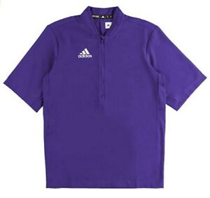 Adidas Men's Team Iconic S/S 1/4 Zip Cage Jacket Baseball Batting Color Choice