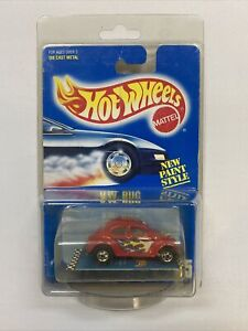 1990 Hot Wheels #65 Red Diecast *VW Bug* MOC Blue Card *Very Rare*!