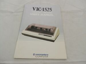 VIC-1525 Graphic Printer User's Manual Commadore Computer