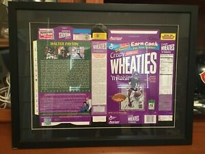 WALTER PAYTON SIGNED AUTOGRAPH FRAMED WHEATIES BOX STEINER WPF HOLOGRAMS COA