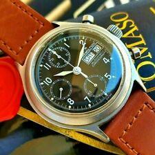 Hamilton Chronograph Military Day Date Valjoux 7750 9447 Black Dial Vintage 39mm