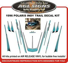 1996 POLARIS Indy Trail  Reproduction Decal kit with trailing arms and tunnel