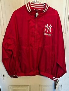 Vintage 1997 Pro Player NY Yankees Windbreaker Rain Jacket Mens L NEW NWT Rare!