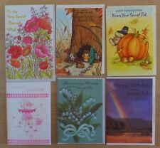 28 Secret Pal Cards, Assorted Occasions, Some Religious, Greeting Cards, Sister