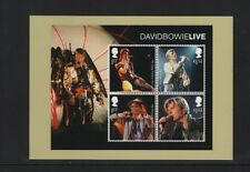 DAVID BOWIE OFFICIAL ROYAL MAIL POSTCARD featuring STAMP SHEET LIVE TOURS