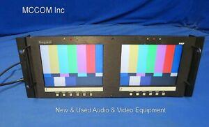 "Marshall Ikegami V-R82P 8"" Analog LCD Rackmount Monitor w/ power supply"