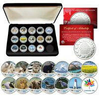 CANADA 150 ANNIVERSARY RCM Royal Canadian Mint Medallions WILDLIFE Set of 14 BOX
