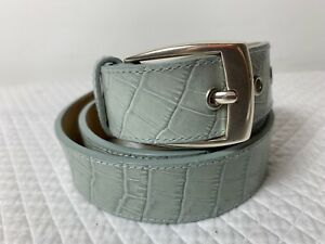 CALVIN KLEIN Women's Turquoise Belt Size Large  Silver Buckle  Genuine Leather
