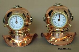 Pair of Diving clock Decorative Brass And Copper Finish Maritime diving Clocks