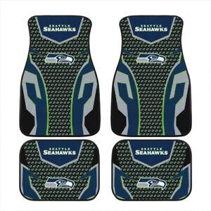 2021 Seattle Seahawks Car Front/Rear Floor Rugs Universal Car Floor Mats 2/4 PCS