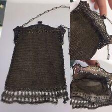 Antique Mesh Chain Mail Victorian Clutch Purse Bag Flapper Era Gatsby Chainmail