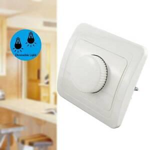 LED-Dimmer Schalter Unterputz aufputz für Dimmbare LED Lampe Weiß 4 bis 300W