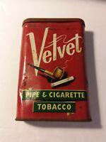 Antique Velvet Pipe & Cigarette Tobacco Tin Liggett & Myers Tobacco Co.