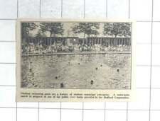 1935 Water Polo Match At Public River Bath, Bedford Corporation