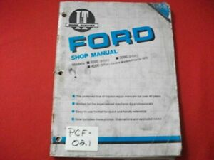 1974 I&T FORD SHOP MANUAL 2000(3-CYL), 3000(3-CYL), 4000 (3-CYL)(PRIOR TO 1975)