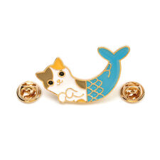 Fashion Cat Fish Collar Pins Badge Corsage Cartoon Brooches Pins Jewelry Gift