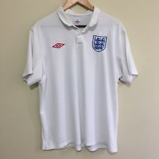 England Umbro 2009 Home Soccer Football Jersey Shirt White Mens XL 46