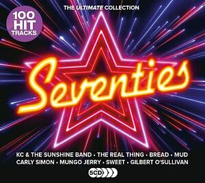 SEVENTIES (70's) THE ULTIMATE COLLECTION 5 CD SET - 100 HITS (Released 16/10/20)