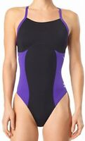 Speedo Women's Swimwear Black Size 30 One Piece Swimsuit Endurance+ $79 #973