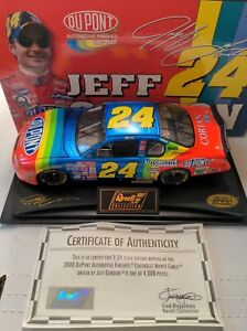 2000 Jeff Gordon Revell 1:24 Scale Diecast Car 1 of 4008 with certificate