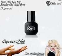 Base One Gel UV Bonder Acid Free 15 grammi Silcare Nail Art Ricostruzione unghie