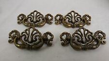 "4 Fancy Chippendale Drawer Pulls Hardware 4 1/2"" x 2 1/2"" with a 3"" boring"