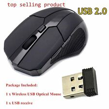 Wireless 2.4GHz Optical Mouse Mice Cordless USB Receiver For Laptop PC Window