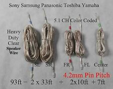 5c speaker cables/wires 4.2mm 93ft made for sony/samsung/Panasonic Home theater