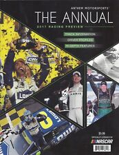 """2017 RACING PREVIEW """"THE ANNUAL"""" ANTHEM MOTORSPORTS NASCAR PROGRAM"""