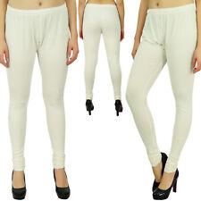 Bimba Women's Soft Cotton Full Length Basic Leggings Stretchy Bottom Pants