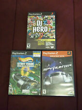 Lot PlayStation 2 games DJ Hero Spyhunter Hot Wheels Stunt Track Challenge PS2