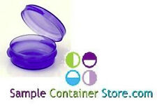 (100) 1/9 oz Lavender Lacons Sample Containers Hinged Lid
