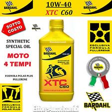 1 LITRO OLIO MOTO 4 TEMPI BARDAHL XTC C60 10W40 POLAR PLUS FULLERENE TAGLIANDO