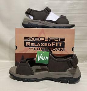 Skechers Men's Tresmen-Garo Open Toe Water Sandal, Chocolate, 12 Medium US