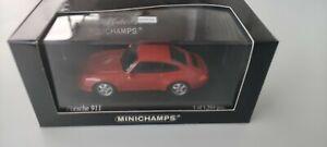 1/43 minichamps porsche 911 1993 orange  edition limitée