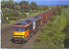 Load Haul Class 60 diesel locomotive 60007 Iron Ore Train Melton Ross postcard