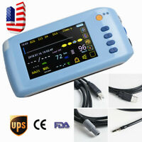 CE Vital Signs Patient Monitor ECG NIBP Spo2 PR TEMP Touch screen+Remote Control