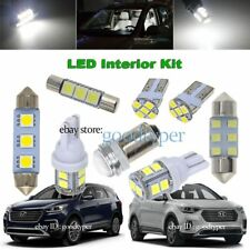 5x White LED Map Dome light interior package kit fit 2017 & Up Hyundai Santa Fe