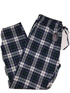 Avidlove Men Sleep Bottoms Cotton Plaid Sleepwear Flannel Lounge Pants LARGE new