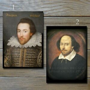 William Shakespeare 1610 portraits Cobbe Chandos art literature color print lot