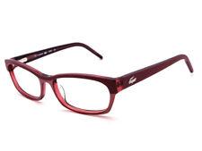 0f500393cf3 Lacoste Women s Eyeglasses L2638 538 Red Rectangular Frame 52  16 135