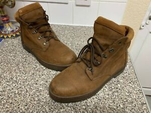 Men's Dark Brown Timberland Boots - Size UK 12.5 M / Leather *USED*