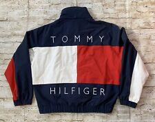 Vintage 90's Tommy Hilfiger Reversible Spell Out Big Flag Jacket Size L