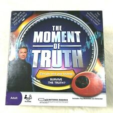New Sealed THE MOMENT OF TRUTH Party Game With Toy Biometric Lie Detector