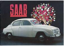 Saab 96 brochure Prospekt, 1964