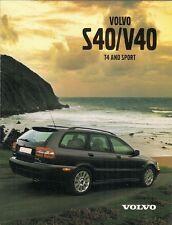 Volvo S40 V40 Sport & T4 2000-01 UK Market Foldout Sales Brochure