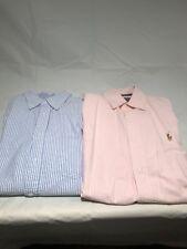 Men's Small & Medium Polo Oxford Button Shirts Pink & Blue Ralph Lauren Merona