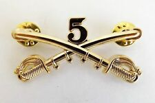 Civil War Indian Wars 5th. Cavalry Union Army Hat pin Badge New